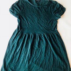 Topshop speckled green baby doll dress size USA 8